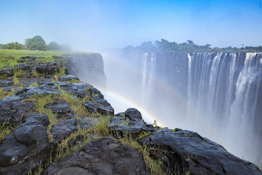 African Waterfalls Victoria rainbow African Destinations