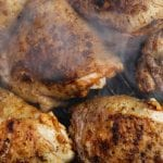 BBQ glazed chicken thighs with braaied baby gem lettuce