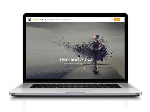 Demand Africa on a laptop