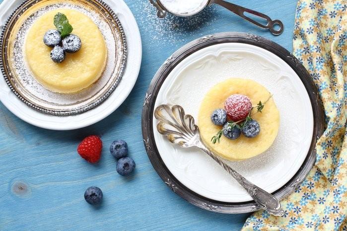 Frozen Festive Lemon Cheesecake Stack