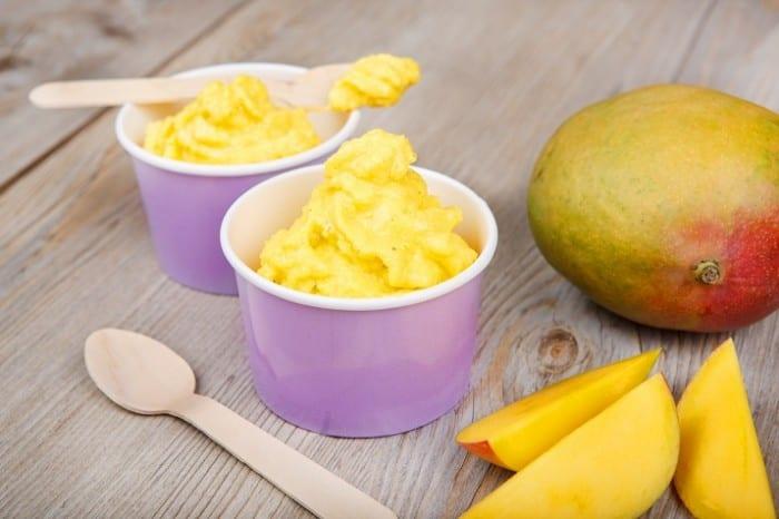 Instant Fat Free Mango Frozen Yoghurt 700x466