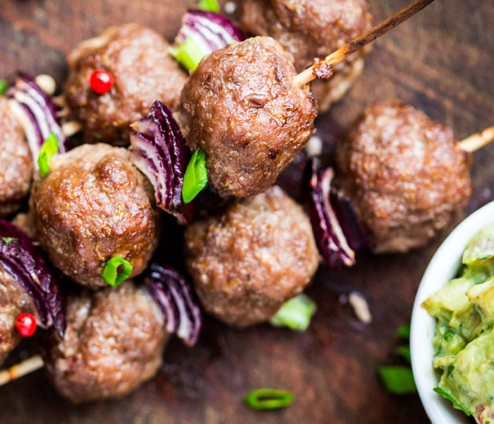Ostrich and Fennel Kofta with Crispy chickpeas Baby Spinach and Cream