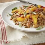 Pearled Wheat Salad with Kassler Beans Fruit