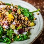 Quinoa salad with beetroot and mango 700x448