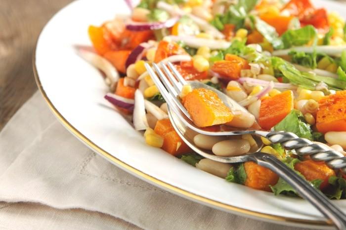 Roast Butternut Cashew and Balsamic Salad