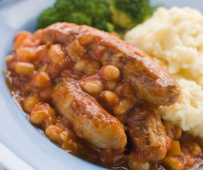 Sausage and Bean Casserole 700x587