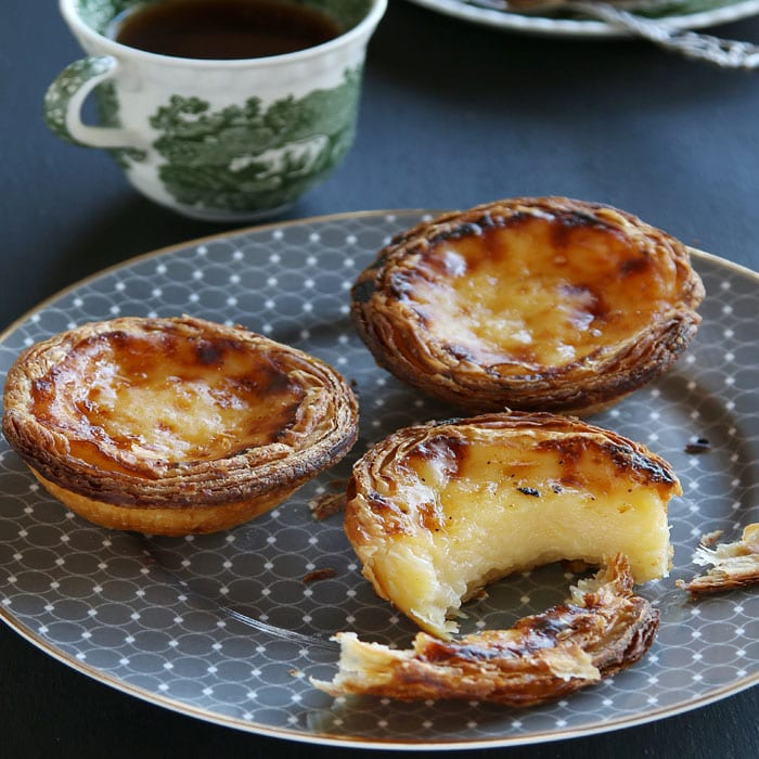 Spiced Apple Custard Tarts with Streusel Topping