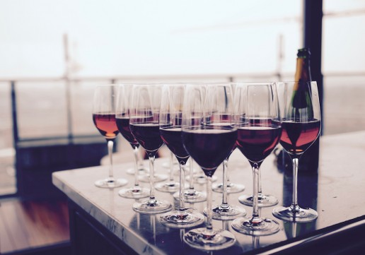 SA Wine - Glasses on Table Red