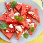 Watermelon Beetroot and Feta Salad