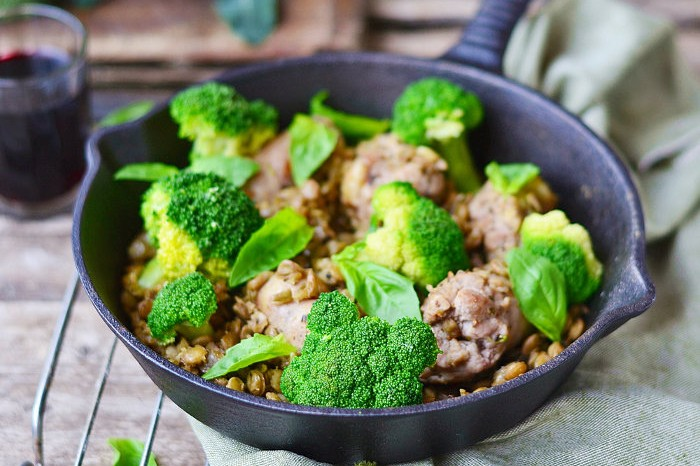 broccoli and lentils edit