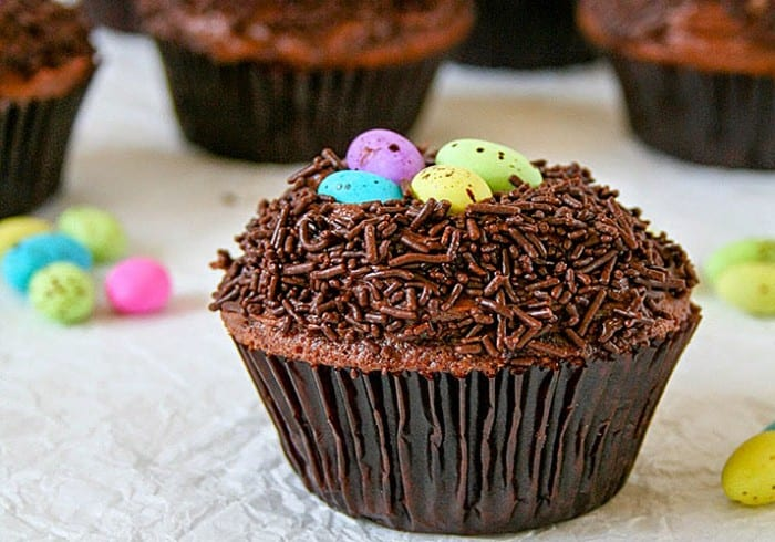 chocolate easter nest cupcakes 700x490