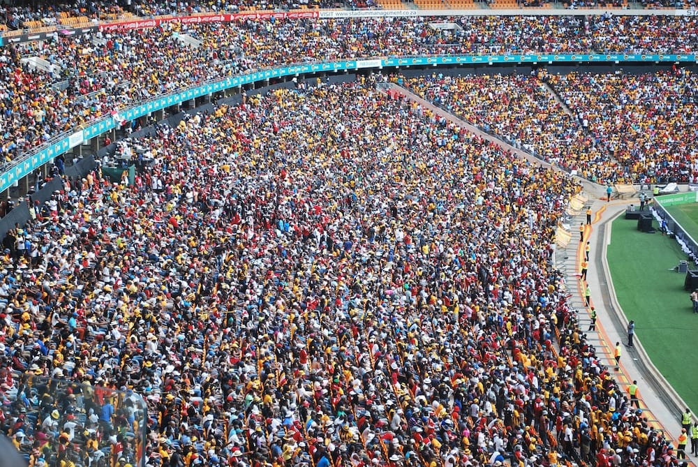 Johannesburg in One Day Football Stadium Crowd