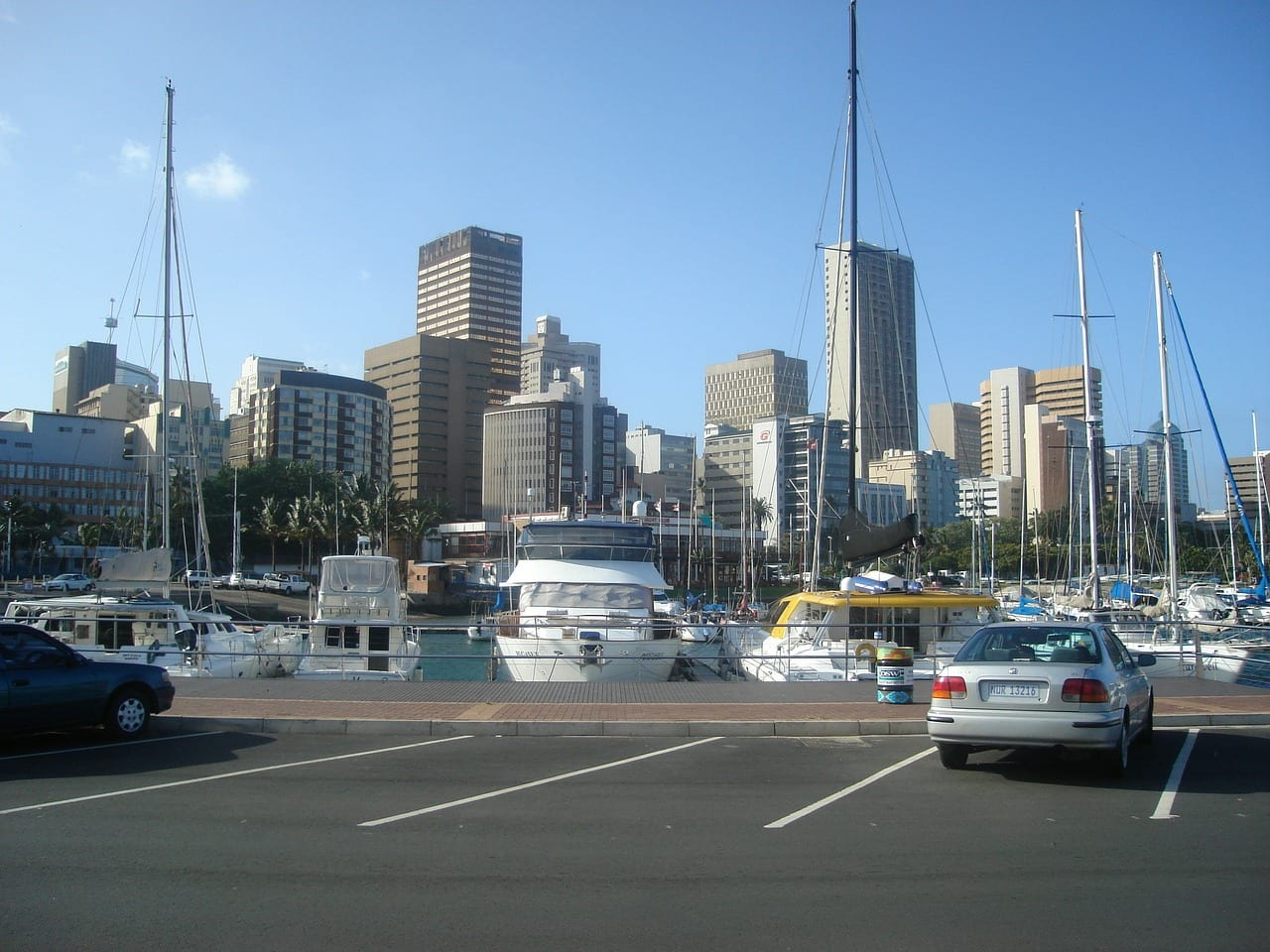Street on the harbor front in Durban