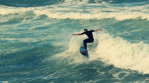 A man surfing in Durban