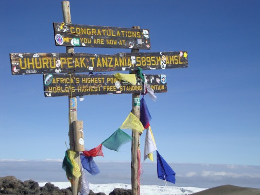 highest peak of Mount Kilimanjaro