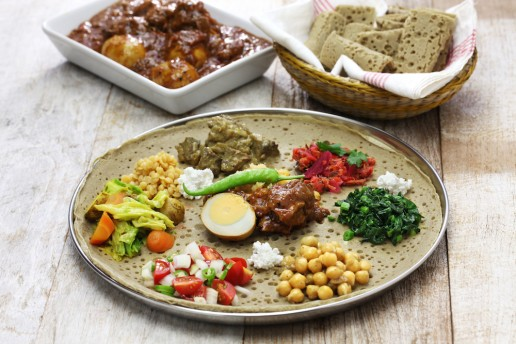 Ethiopian Foods on a plate
