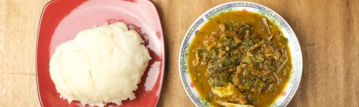 Nigerian Food oha soup and fufu