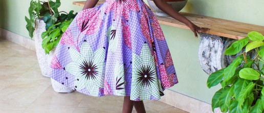 African Dresses off shoulder dress