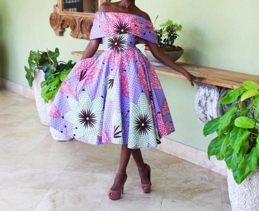 African Dresses off shoulder dress