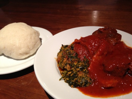 Popular African Foods Egusi Soup (Melon Seed Stew) with Fufu