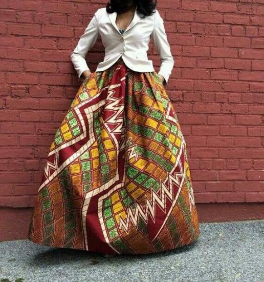 African Dresses maxi skirt