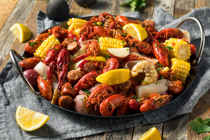 cajun food crawfish plate
