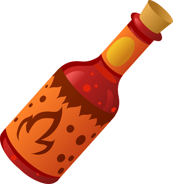 cajun food hot sauce bottle
