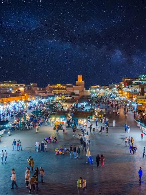 Marrakech Morocco Night