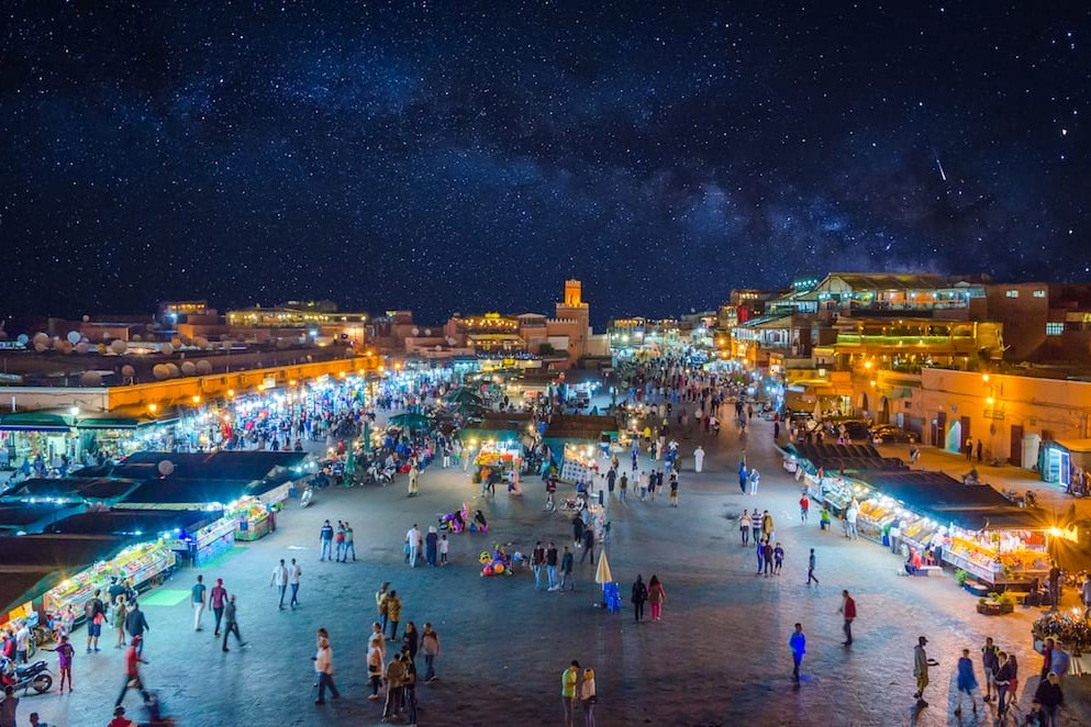 Marrakech Morocco Night